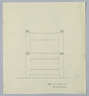Drawing, Design for Bed by Sabricue