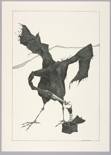 Print, Plate 12, X, Très Admirable Bestiaire Fantastique (Very Admirable Fantastic Bestiary)