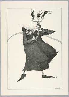 Print, Plate 23, VIII, Très Admirable Bestiaire Fantastique (Very Admirable Fantastic Bestiary)