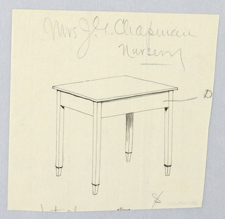 Drawing, Design for Small Rectangular Table