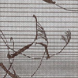 Motif of grain plants with lattice-like background