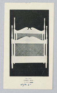 Catalogue Illustration, Design for Headboard and Baseboard of Cane Bed #643