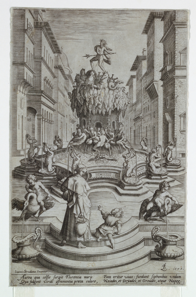 Print, Fountain of Neptune, Florence, 1575