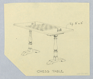 Drawing, Design for Chess Table, 1900–05