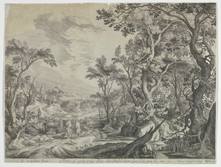 Print, Jacob at the Well, ca. 1610