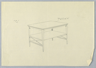 """Drawing, Design for Large Rectangular Table """"C"""""""