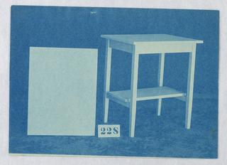 Print, Design for Small Rectangular Table #228, 1900–05