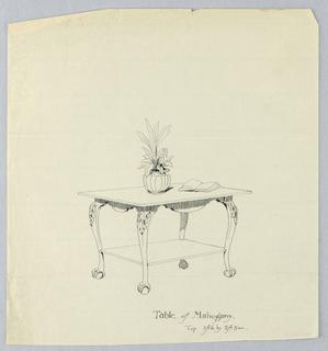 Drawing, Design for Rectangular Mahogany Table