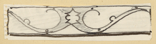Design for ornamental scrollwork to be executed in iron.