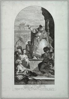 Print, St Patrick Healing a Cripple, 1750–1780