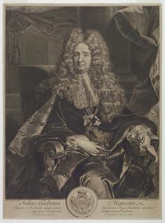 Print, Portrait of Jules-Hardouin Mansart (1646-1708)