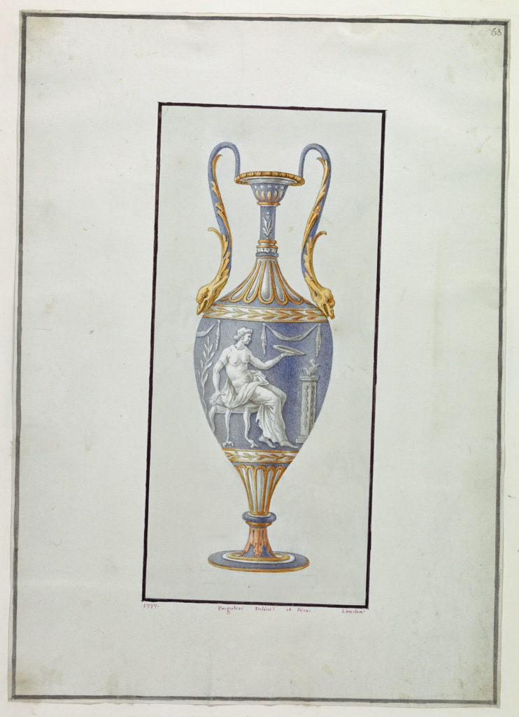 Drawing, Wall Decoration: Urn