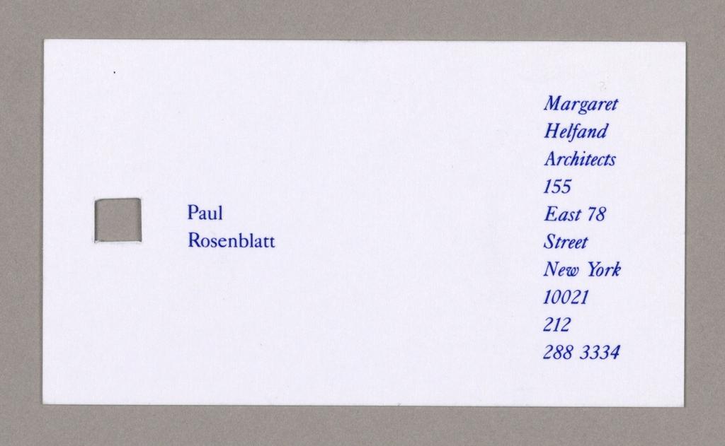 Stationery, Margaret Helfand Architects