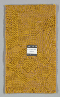 "12 woven color swatch samples of the fabric ""Figuratione"", 1974-63.1"