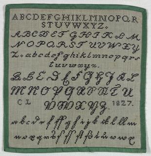 Five different alphabets, the last two a German script.
