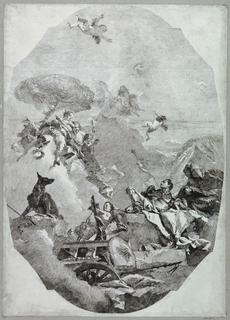Print, The Triumph of Mars, ca. 1759