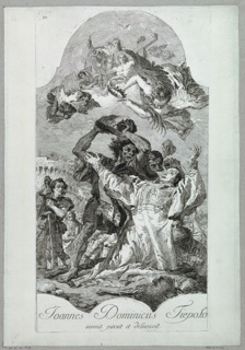 Print, Martyrdom of Saint Stephen, 1750–1780