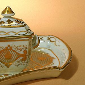 Miniature Sugar Bowl And Lid (Austria)