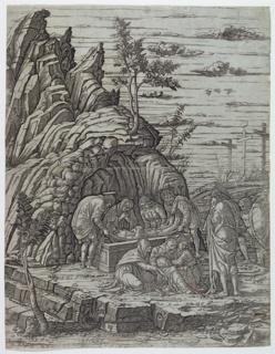 Print, The Entombment, ca. 1485