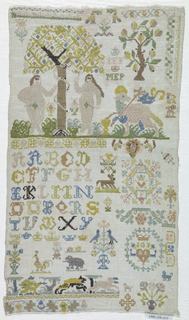 Adam and Eve at upper left and other motifs from Sibmacher and others.