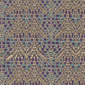 Double triangles in beige with light blue and blue.