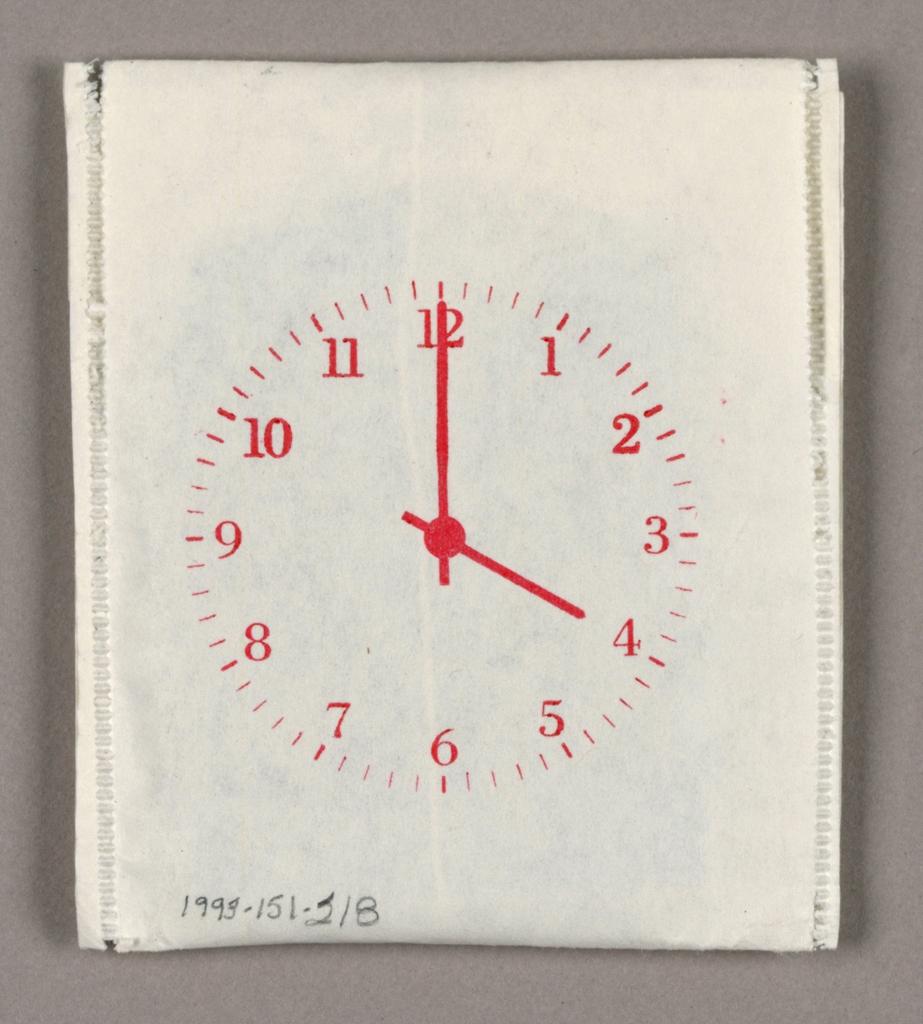 Package, Knoll International: Clockface Teabag