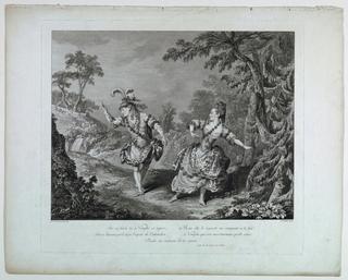 "Print, Scene from the Opera ""Sylvie"""
