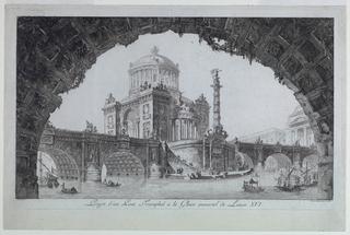 Print, Projet d'un Pont Trimphal a La Floire Immortel de Louis XVI