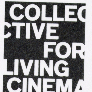 Letterhead - Within a small black rectangle in the top right-hand corner, Collective for Living Cinema is imprinted in white capital letters, sans-serif style. The name is displayed in disjointed style: Collec/ Ctive/ for/ Living/ Cinema, with letters cut off at the right and left edges. After a brief block of space underneath, the organization's name and address are imprinted on seven lines, followed by another block of space. Underneath that, in the lower half of the page, the remaining space consists of titles and names of organization personnel.  Envelope - The letterhead rectangle is repeated in the top left hand corner. Just above the bottom edge, aligned with the rectangle, the address is imprinted on two lines.  Business card - Again, the rectangle appeaars, now on the left, occupying most of the space from top to bottom. To the right, Audrey Chang/ Workshop Tour Director, separated by a brief white space from three lines of address and phone number, completes the design.
