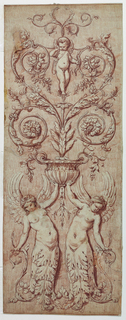 Drawing, Design for a carved panel