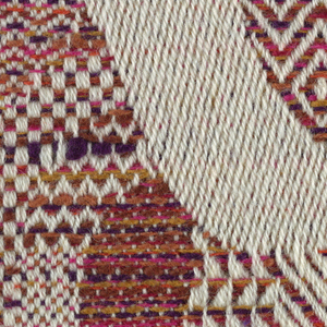 """12 woven color swatch samples of the fabric """"Figuratione"""", 1974-63.1"""