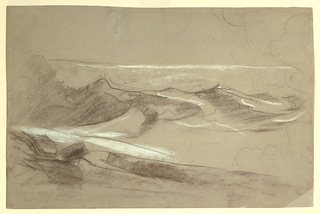 Drawing, Swells in the Ocean