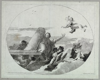 Print, Allegory of Fortitude and Peace