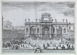 Print, The Exposition of the Holy Sacrament, Attended by Louis XIV and His Mother, Anne of Austria