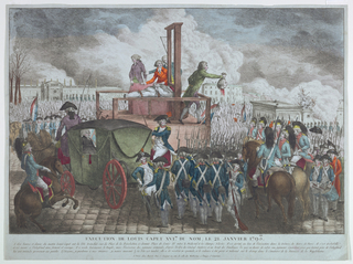 Print, Execution of King Louis X, ca. 1793