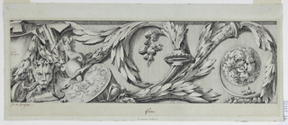Drawing, Frieze with Rinceau