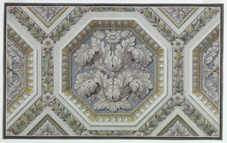 Drawing, Ceiling Ornament, ca. 1870