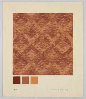 Drawing, #88 Orange shades; geomet