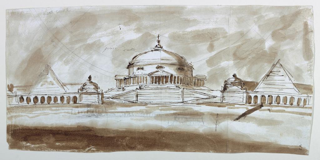 Drawing, Mausoleum