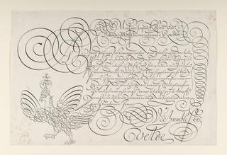 Print, Writing Example from Spieghel der Schrijfkonste. Tweede Deel (The Mirror of Art Writing, Second Part)