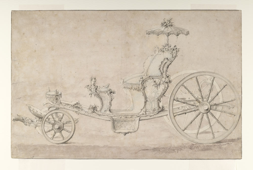 Drawing, Design for a Cabriolet