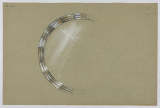 Drawing, #23 Round mirror (unfinis