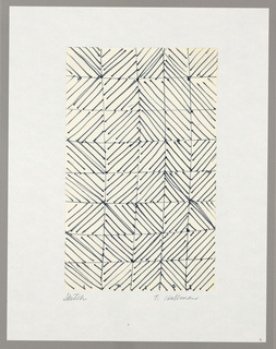 Drawing, Sketch for Woven Fabric