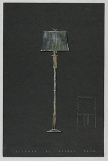Drawing, One lamp design; mounted