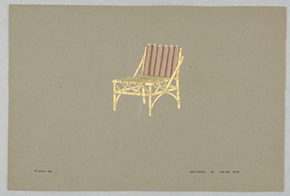 Drawing, 26. Bamboo side chair wit