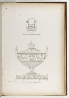 Print, Pot-à-Oille (Design for a Tureen with Handle for the Empress Josephine), plate 46, in Recueil de decorations intérieures (Collection of Interior Decorations)