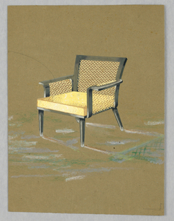Drawing, One design for a chair
