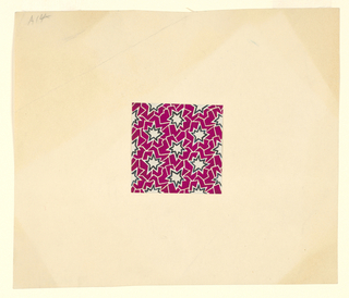 Drawing, Textile Design: Jagged Stars, ca. 1930s