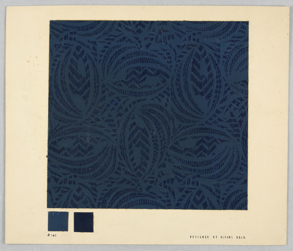 Drawing, #167 Dark blue and blue;