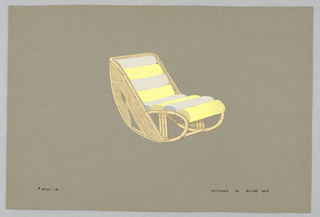 Drawing, 18. Bamboo rocking chair